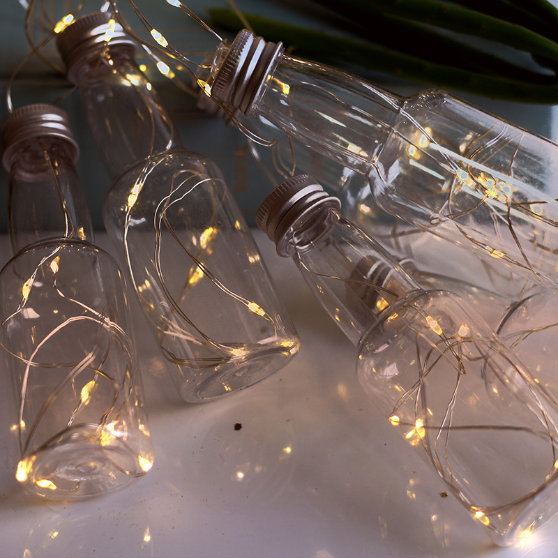 100 Led Transparent Wine Bottle Battery Operated Copper Wire String Lights 3m LED Decoration For Christmas Garland On The Window