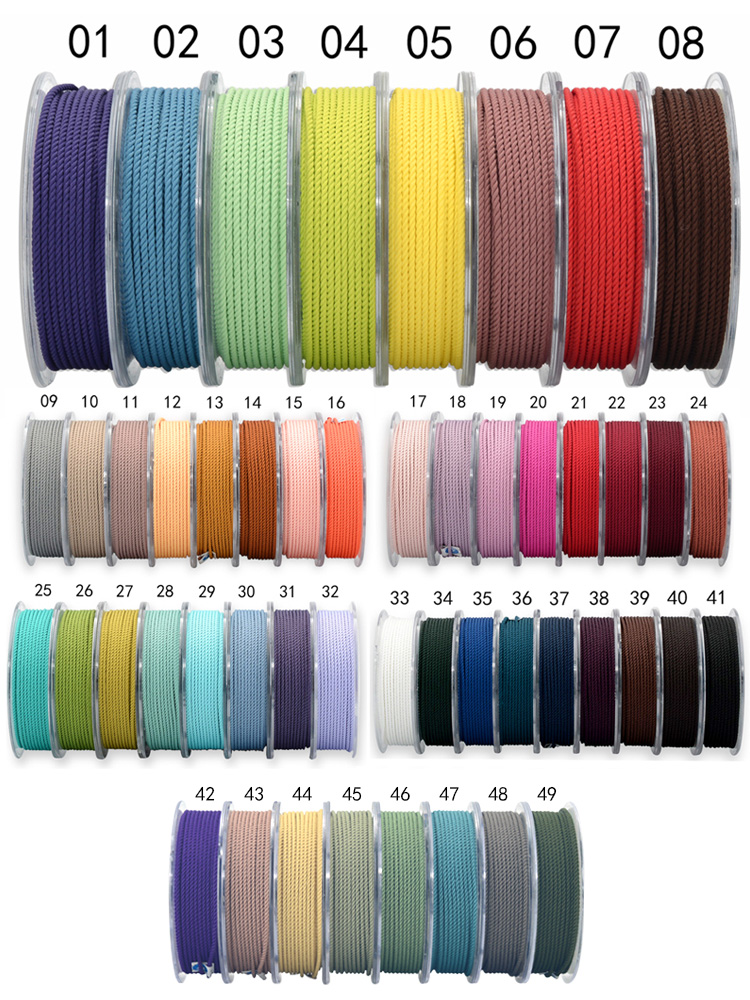 1mm Silk thread milan cord DIY Jewelry & packing & shoes rope Necklaces & Bracelets cords rope line 39 colors 15 meters/roll