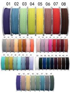 1 мм шелковая нить, Миланский шнур, сделай сам, украшения, упаковка, обувь, веревочные ожерелья и браслеты, веревка, 39 цветов, 15 метров/рулон