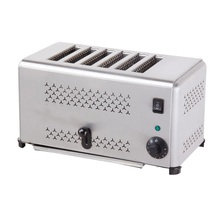6 SLICE STAINLESS STEEL TOASTER ELECTRIC BREAD TOASTER Electric bread baking toaster