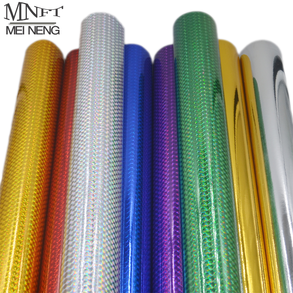 MNFT 1 Roll Hard Baits Body Change Color Sticker Decal Holographic Adhesive Film Flash Tape For Lure Making Fly Tying Materail 5sheets pack 10cm x 5cm holographic adhesive film fly tying laser rainbow materials sticker film flash tape for fly lure fishing