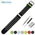 Correa de silicona de 38mm 42mm iwatch apple watch banda de goma lateral doble uso de correa de pulsera pulsera de la correa + adaptadores
