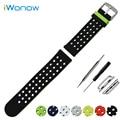 Pulseira de silicone para 38mm 42mm iwatch apple watch banda dupla face vestindo cinta correia de pulso pulseira de borracha + adaptadores