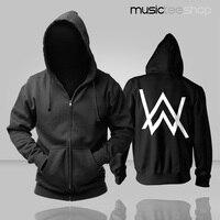 Dropshipping USA Alan Walker Faded Hoodie Jackets Coats Fashion Hoodie Thicken Zipper Men S Sweatshirts