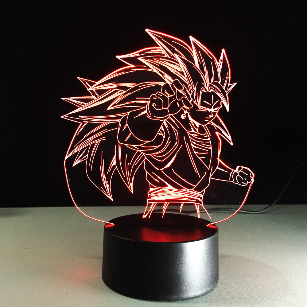 Colorful Gradient Atmosphere Visual 3D LED Light Fixture Cartoon Dragon Ball Lamp Sleeping Creative NightLight Bedside Desk Lamp
