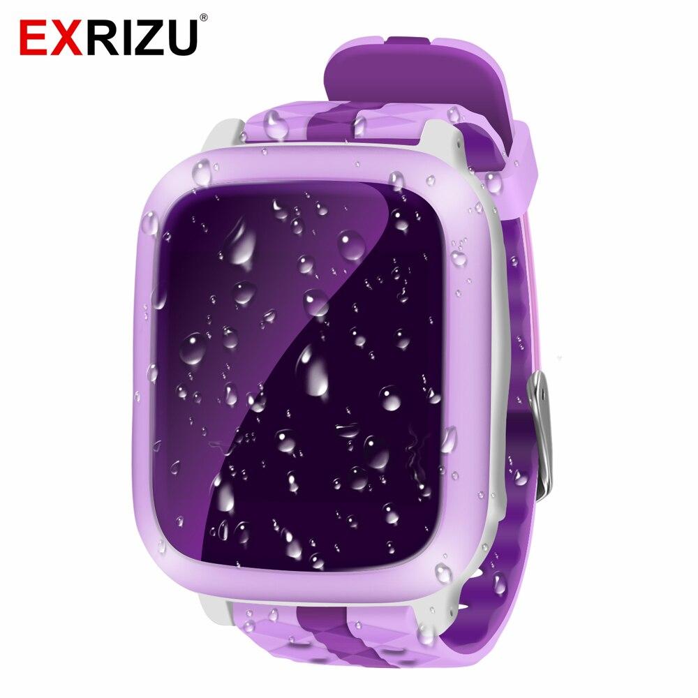 Exrizu ds18 дети Видеоняни и радионяни Смарт-часы безопасный телефон GPS + WiFi + sos-вызов локатора трекер анти потерял Поддержка SIM карты для детей