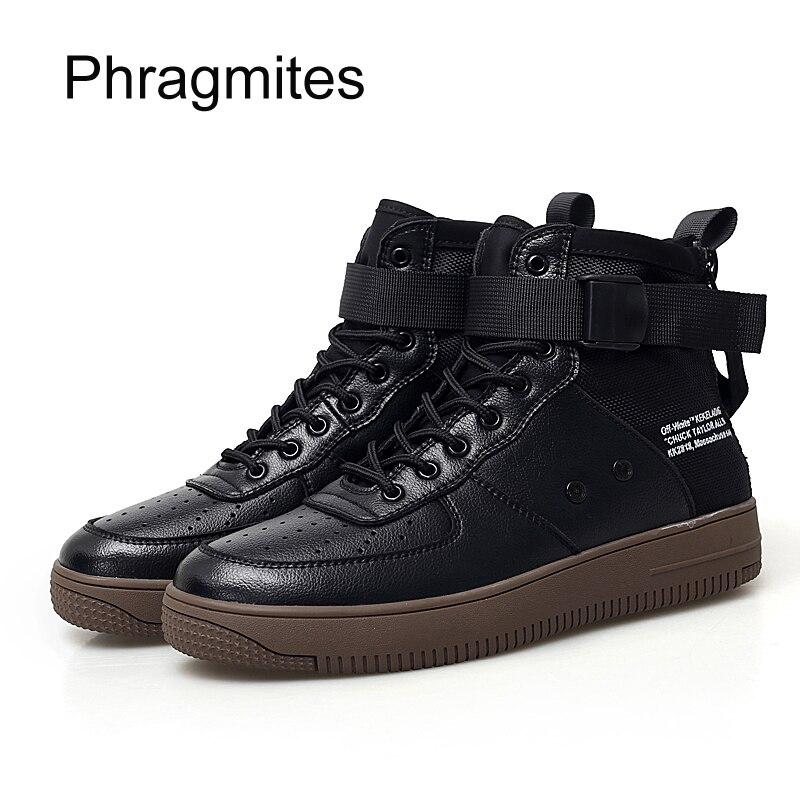 Phragmites unisexe couple grande taille botines mujer 2018 vente chaude cool noir et blanc chaussures de mode cheville bottes pour femmes