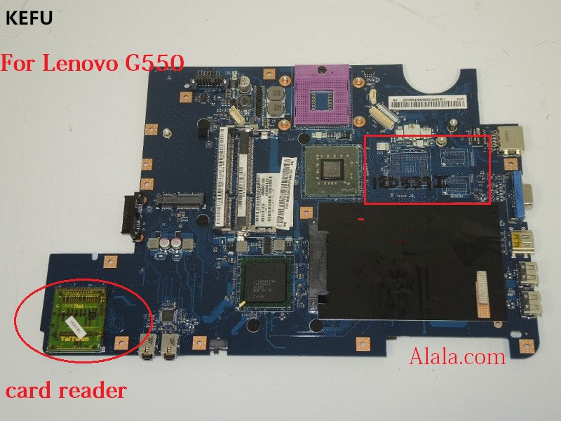 KEFU Laptop motherboard Fit for Lenovo G550 Notebook pc KIWA7 LA 5082P with card reader 100
