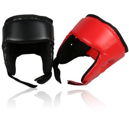 Новый Санда Каратэ Муай Тай Boxeo тхэквондо Бокс шлем обучение шлем для детей взрослых Для мужчин Для женщин черный, красный