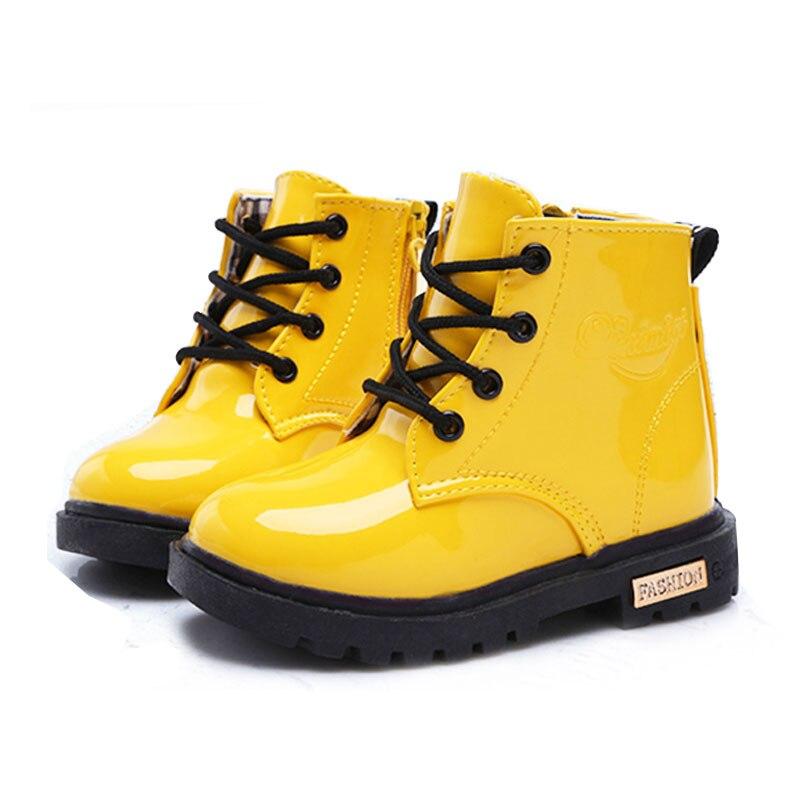 Обувь для детей девочек Обувь для мальчиков из искусственной кожи Кружево на высоком детей Спортивная обувь для девочек Обувь для младенцев спортивный осень-зима детей Обувь