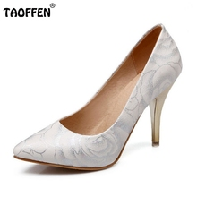 women stiletto high heel shoes pointed toe spring sweet footwear lady spring fashion heeled pumps heels shoes size 34-47 P17515