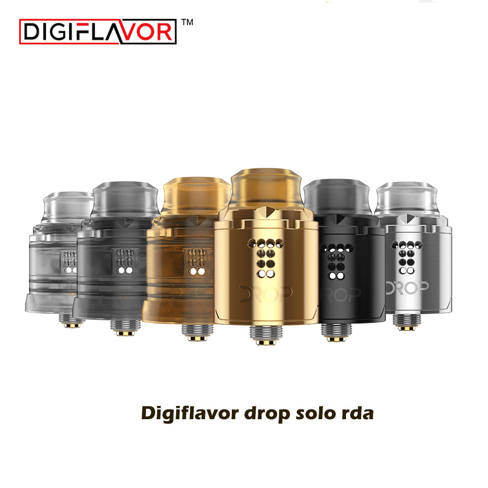 Big sale Original Digiflavor Drop Solo RDA single coil 22mm with two caps standard 510 and BF Squonk 510 pin deep base цена