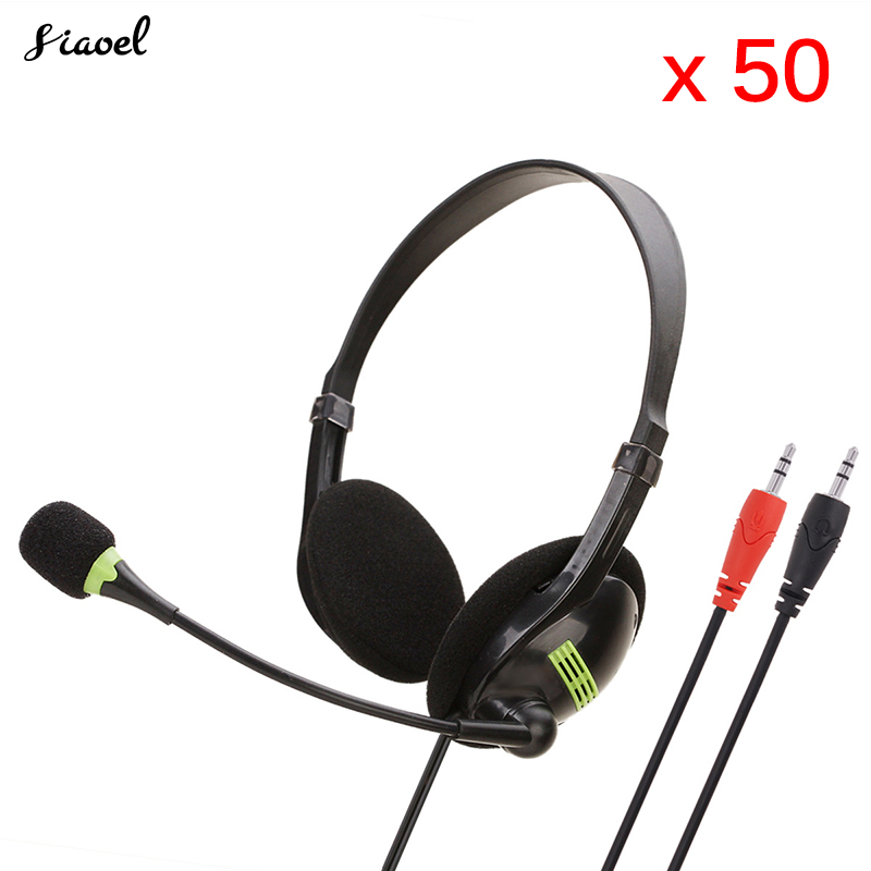 50 Pieces Teaching Office Headset Headset Computer Headset Network Live Traffic Customer Service Chat Karaoke Headset image