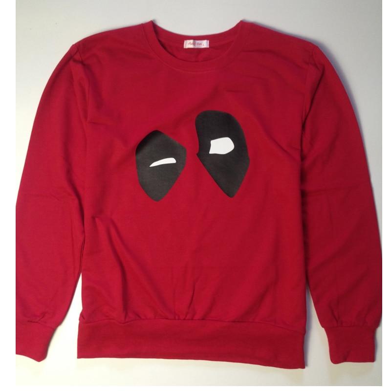 Hero Catcher High Quality Cotton Deadpool Sweatshirts Autumn Thin Deadpool Sweatshirt
