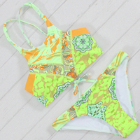 2017 Sexy High Neck Bikinis Women Tank Bathing Suit Beach Wear Swimming Suit For Women Cropped