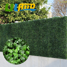 ULAND 25x25cm Artificial Boxwood Hedges Panel 10″x10″ Plastic Garden Grass Ivy Fence Mat Outdoor Balcony Shrubs Garden Ornaments