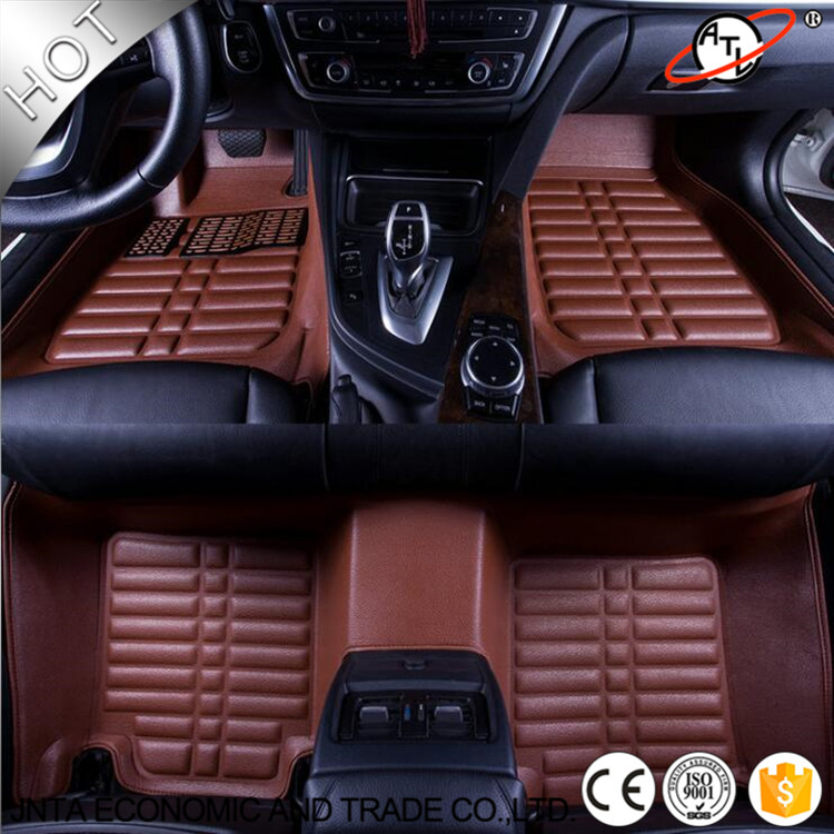 car accessories interior leather floor mat 3 d car floor mats custom fit front rear full set. Black Bedroom Furniture Sets. Home Design Ideas