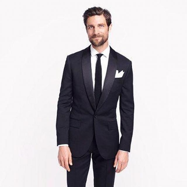 2017 Estilo Clásico 1 Botón Traje Slim Fit Para Hombre Ropa Novio Esmoquin Y Traje Del Padrino de boda Por Encargo Traje de Hombre (chaqueta + Pantalones)