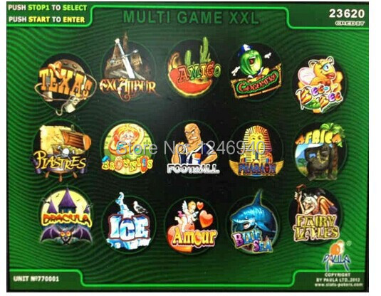 XXL New 15 In 1 Casino Game PCB/Gambling PCB/multi Game gambling board for LCD VGA slot arcade cabinet/game mechine
