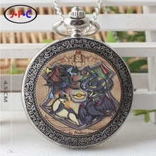 "New sample Japanese anime ""Pocket Monster"" quartz pocket Watch Younger women and men animation periphery Quartz watch DS321"