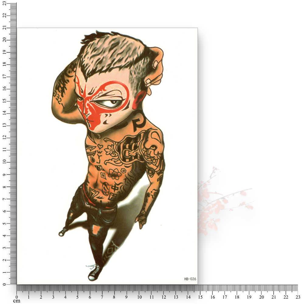 نقل المياه ملصقات وهمية الوشم المتاح للماء المؤقتة القرد الملك الرجال الجمال زهرة الذراع الجسم الفن بريق ماكياج