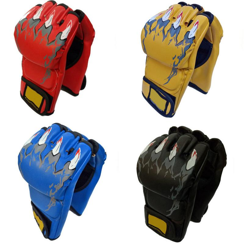 1 Pair of Half Mitt Sports Gloves for Tae kwon Do Boxing Sparring Kick UFC Gloves Boxing Training MMA Boxing Set Sandbags Gloves