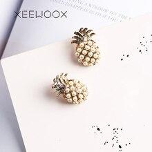 Pendientes de piña de frutas XEEWOOX 2019 noticias moda semana diseñador hiperbole fiesta creativo mujeres perla conjunto regalo de joyería