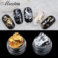 1 PCS Mezzling Gold Silver Aluminum Nail Art Foil Sticker Paper 3d Glitter UV Gel Polish Design Nail Decoration Tools