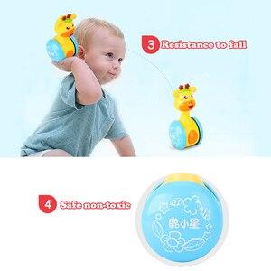Image 2 - ベビーガラガラタンブラー人形ベビーおもちゃ甘いベル音楽起きあがりこぼし学習教育おもちゃギフトベビーベルベビーおもちゃ