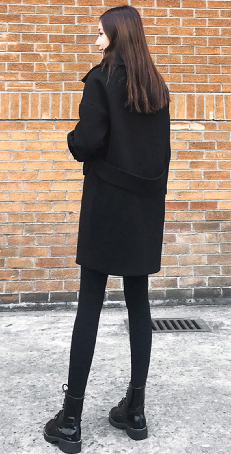 Winter Damen Elegant Jacke Von 2018 Größe Casual 34 Drop Schulter Ärmel Großhandel XL Plus Basic Mantel Schwarz Frauen Woolen 5XL Lang Wollmantel XZPiTkuO