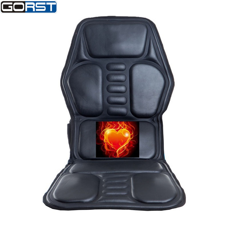 Car Styling Neck Back Massage Heat Cushion Home Car