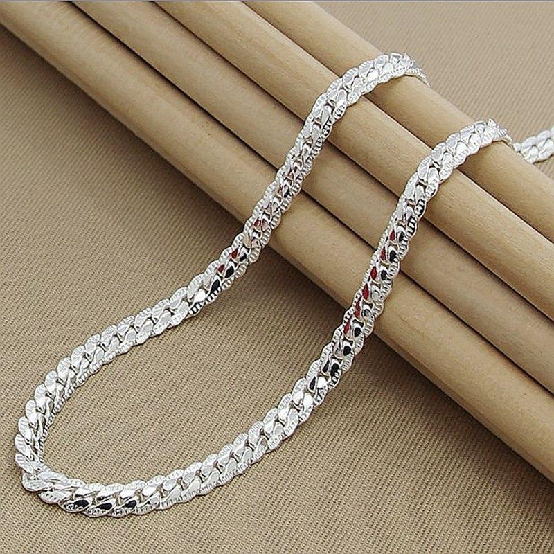 High Quality Brand Fashion 6mm Full Sideways Necklaces