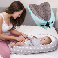 Cotton Baby Bed Portable Infant Nest Cradle Baby Crib Washable Babynest Soft Children's Bed Cradle Outdoor Toddler Travel Beds