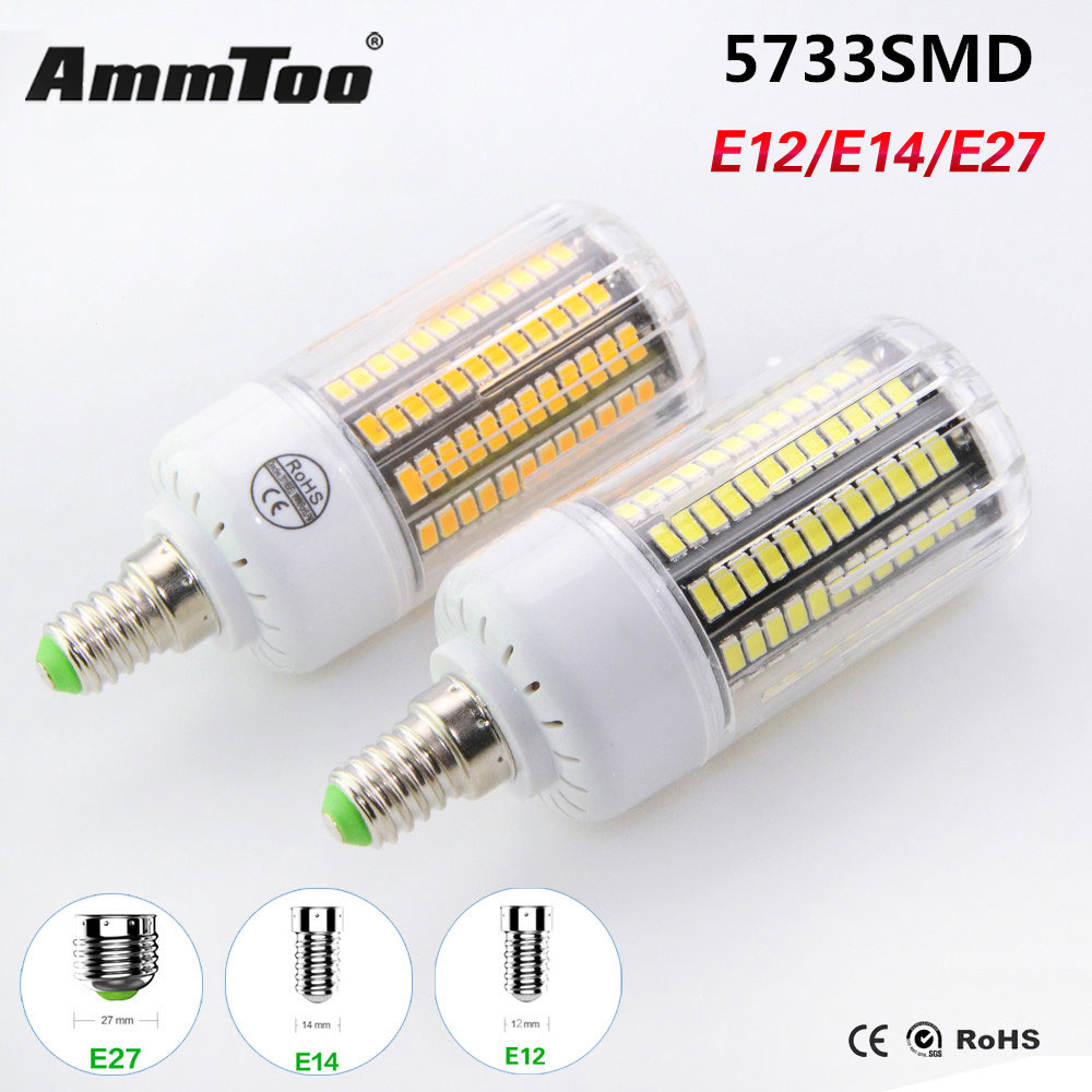 Led lamp e27 smd 5733 brighter than 5730 smd lampada led for Lampade led 220v