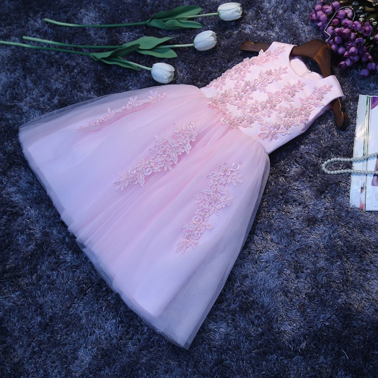 Elegant Girl Summer Dress Pink Lace Deluxe Sequin Tulle Party Dress kid Birthday Wedding Dress with Big Bow,12M-12Y send envelope lace laser cut pink invitations cards for wedding free printing blank paper invitation card kit ribbons big bow
