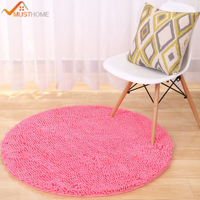 Round Chenille Rugs For Bedroom Thicken Carpets Bed Room Diameter 60cm 80cm 120cm