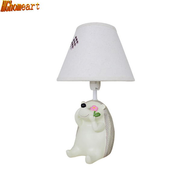 HGhomeart Hedgehog Cute Little Animals Childrens Room Desk Lamp Table Decoration