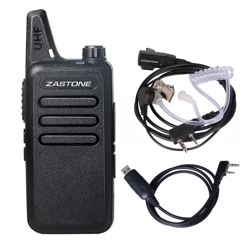 Zastone X6 UHF 400-470MHz Walkie Talkie Radio Handheld Communication Equipment Portable Walkie Talkie With Headset Cable ZT-X6