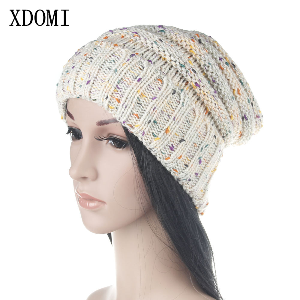XDOMI New Arrival Winter Casual Cotton Knit Hats For Women Men Baggy Beanie Hat Crochet Slouchy Ski Cap Warm Skullies Gorros Hat winter casual cotton knit hats for women men baggy beanie hat crochet slouchy oversized ski cap warm skullies toucas gorros 448e