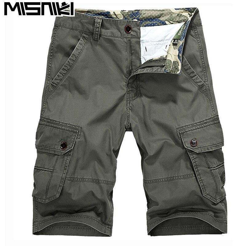 MISNIKI mens cargo shorts summer straight loose style tactical short 30-44 jpdk17