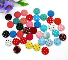 100Pcs Mixed Round Cloth Fabric Covered Sewing Buttons Flatback Cabochon Scrapbooking Crafts Knopf Bouton Decor Diy Accessories(China)