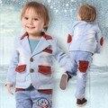 Оформление мальчик джинсовая одежда набор 3 шт. высокое качество мальчики одежда для новорожденных мальчик одежда мальчиков джинсы костюм набор детей одежда