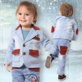 clearance baby boy denim clothing set 3pcs high quality boys clothing baby boy clothing boys jeans suit set children clothing
