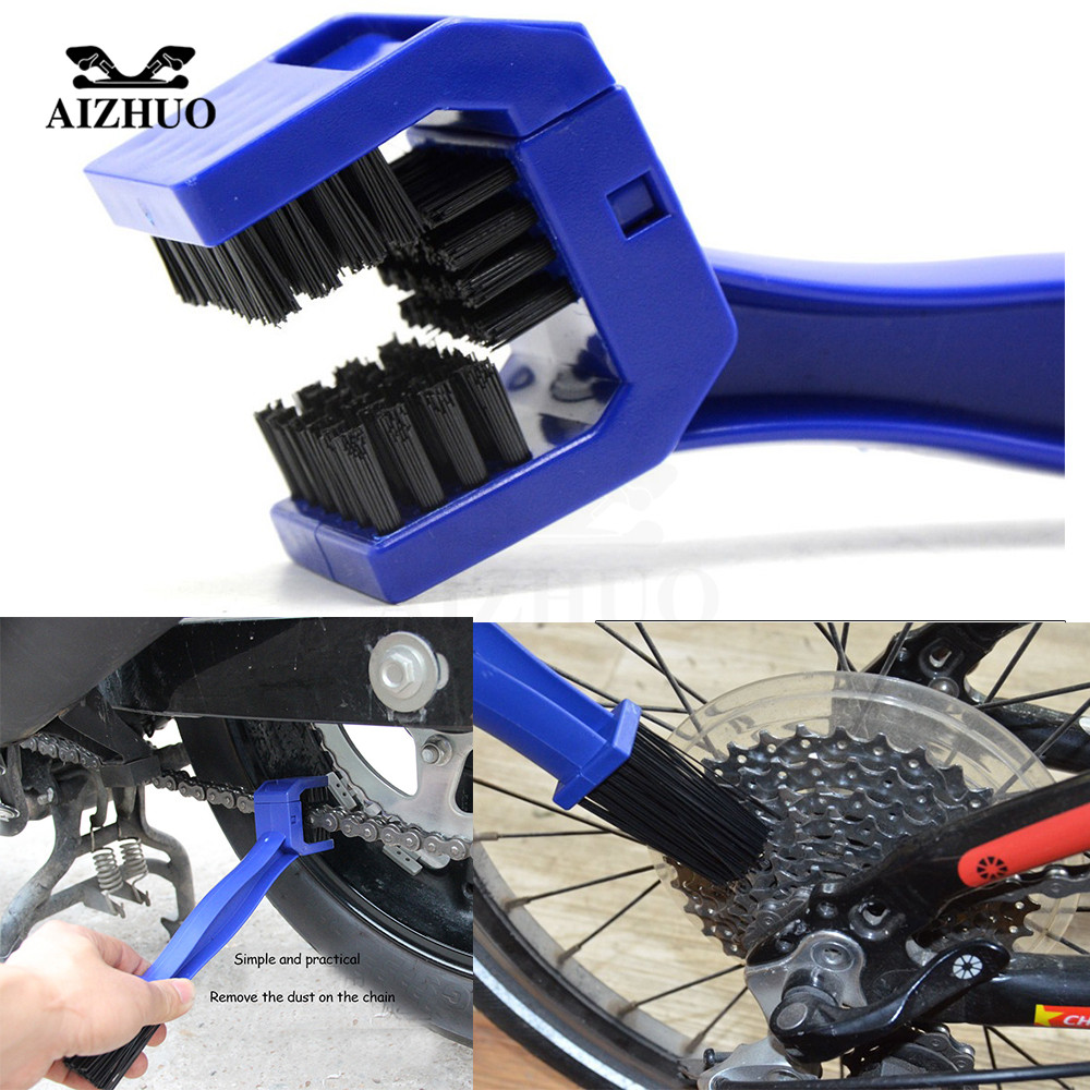Universal Motorcycle Bike Chain Maintenance Cleaning Brush For Suzuki GSXR600 750 11 12 13 honda hornet 600 shadow 750 ST 1300