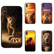 Король Лев Нала Симба Тимон мягкий силиконовый черный чехол для телефона для iPhone11 pro max 5 5S se 6 6s 7 8 plus X Xs XR max