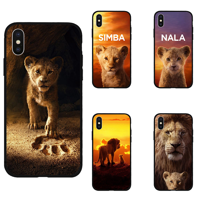 <font><b>Lion</b></font> <font><b>King</b></font> nala simba timon soft Silicone black cover phone <font><b>case</b></font> For iPhone11 pro max 5 5s se <font><b>6</b></font> 6s 7 8 plus X Xs XR max image