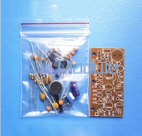 DC 1.5V-9V FM Wireless Microphone DIY Kit DIY Parts For Electronic Learning Kits 80MHz-108MHz Free Shipping