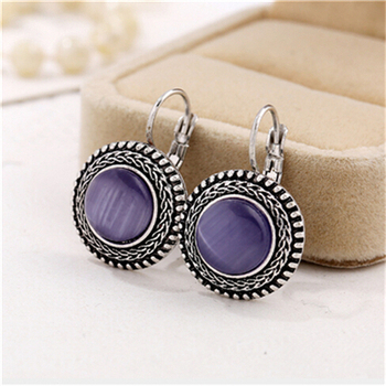 Round Vintage Drop Earrings Earrings Jewelry Women Jewelry Metal Color: H13383