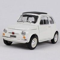 Maisto 1:18 1965 Fiat 500f beige car diecast 185*85*87mm open doors classic motorcar diecast collecting car models as gift 12020