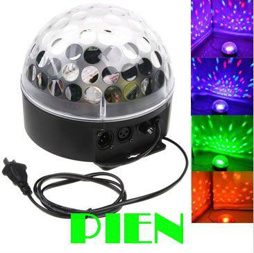 RGB Led Stage Light Bulb Crystal Magic Ball Lamp Colorful Party Dj Disco Christmas Xmas Lighting sound activated Free shipping 6w e27 led stage light rgb lamp with voice activated mp3 projector crystal magic ball rotating disco dj party stage lighting